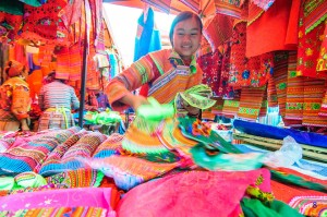 Coc Pai Market In The Different Colors