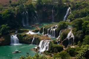 Ban Gioc Waterfall On Top World Most Majestic Waterfall