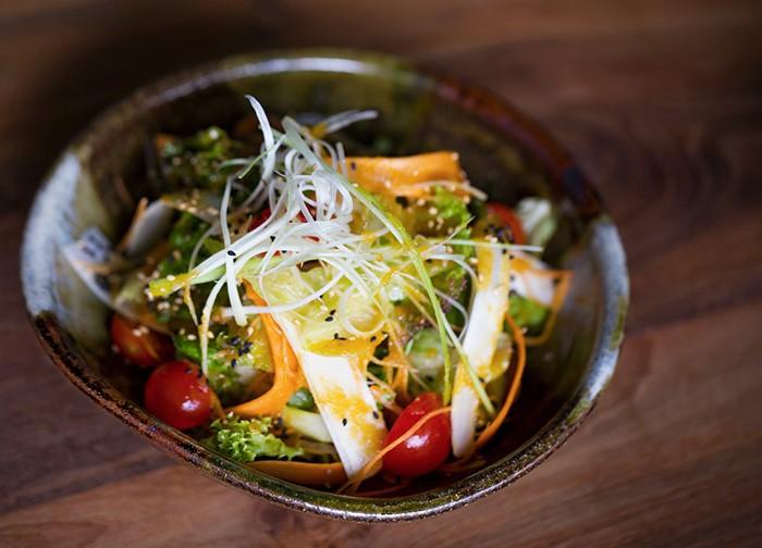 Cool Red Jellyfish Salad.