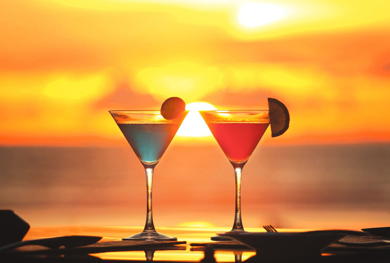 What is the best thing than drink cocktail on the beach and watch the sunset.