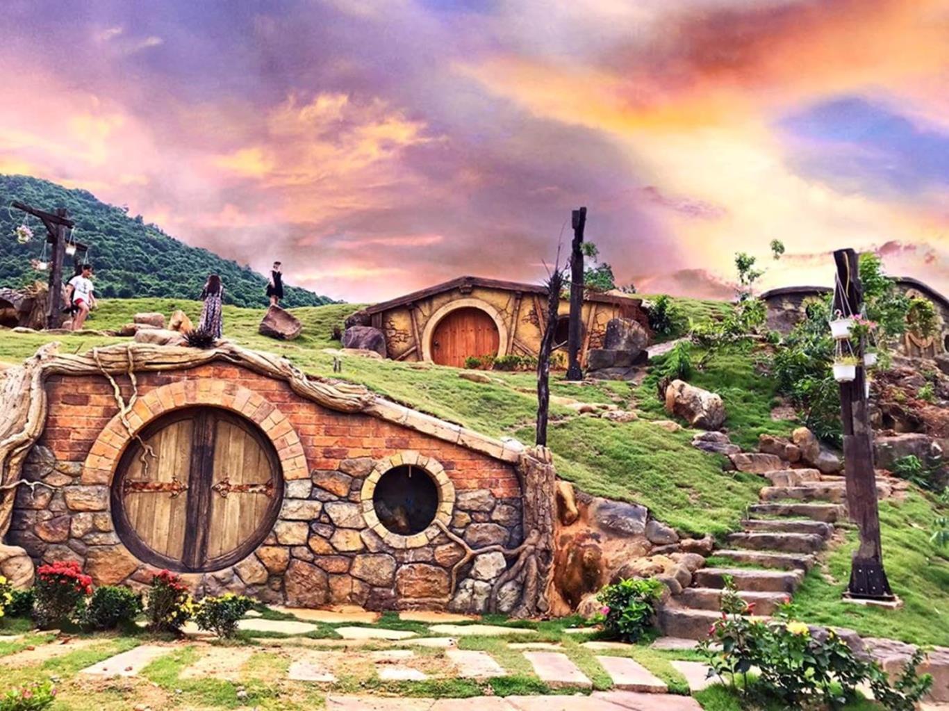 The Hobbit houses inside the resort