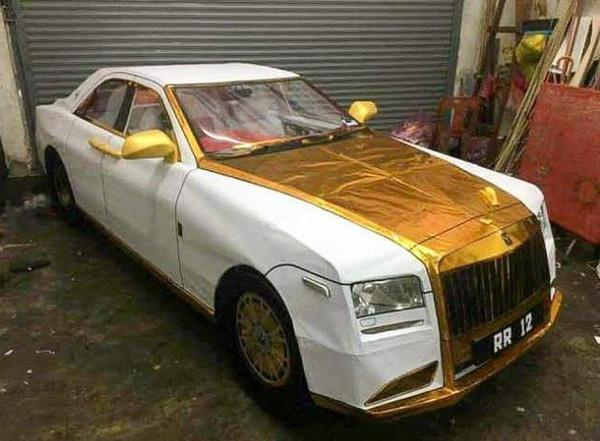 A ghost Roll Royce