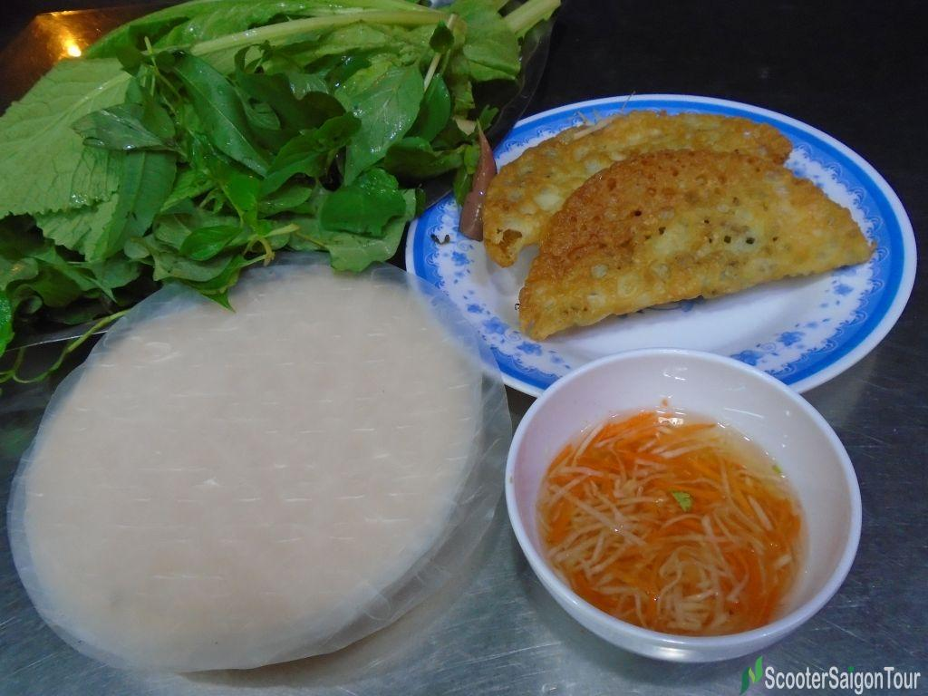 Central Banh Xeo is better to eat with rice paper