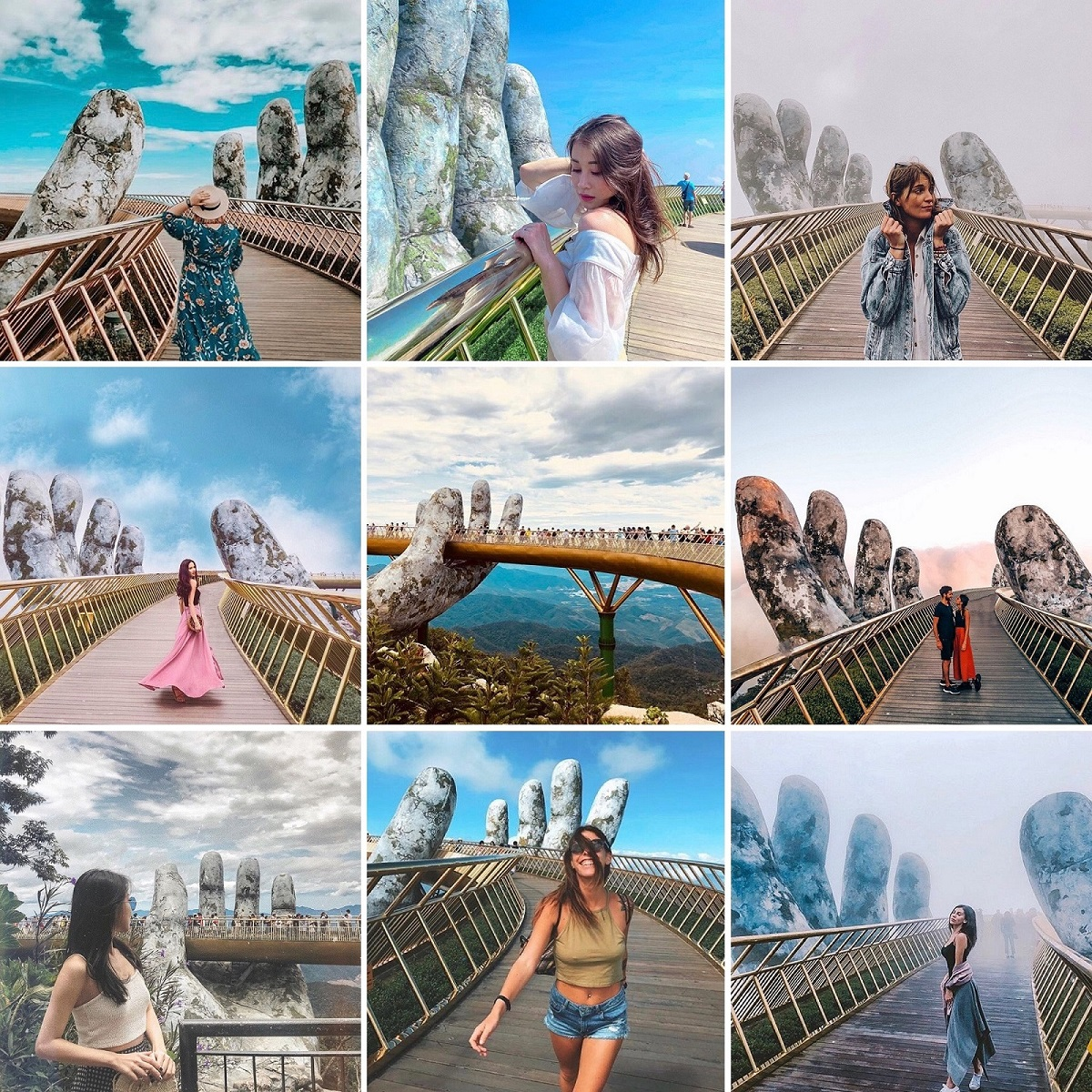 a hundreds of pictures of every angle of the bridge